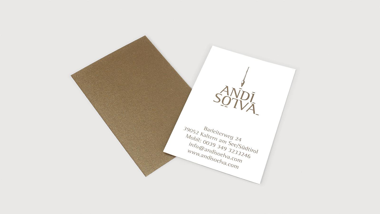 Visitenkarten Andi Soelva Druckerei Athesia