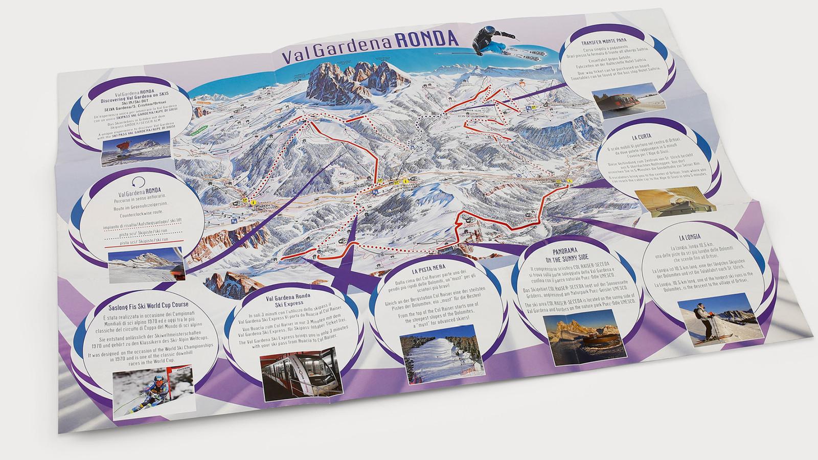 Skikarte – Val Gardena