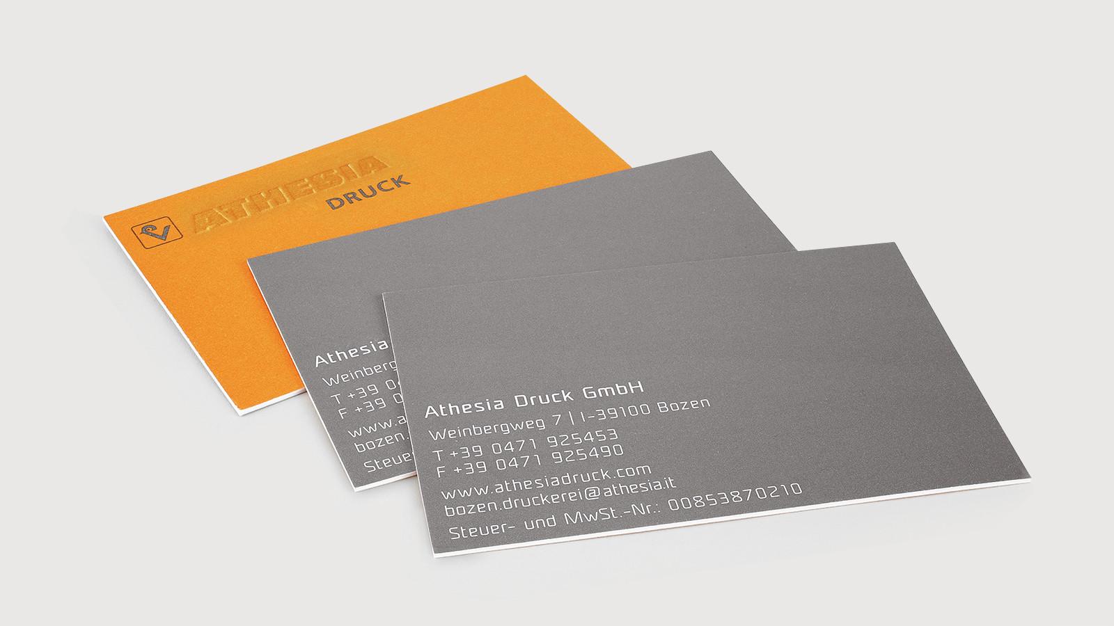 Visitenkarten Athesia Druck Gmbh Druckerei Athesia